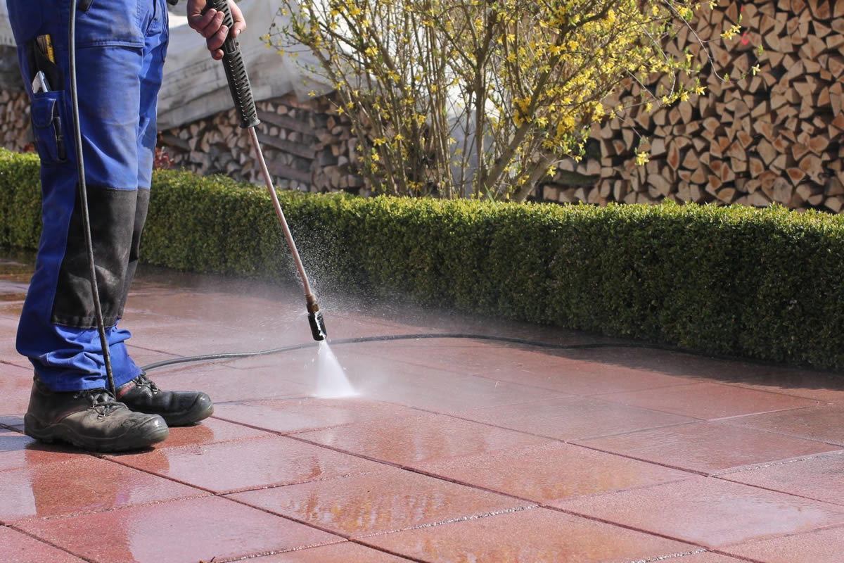 Pressure Washing on a Cloudy Day